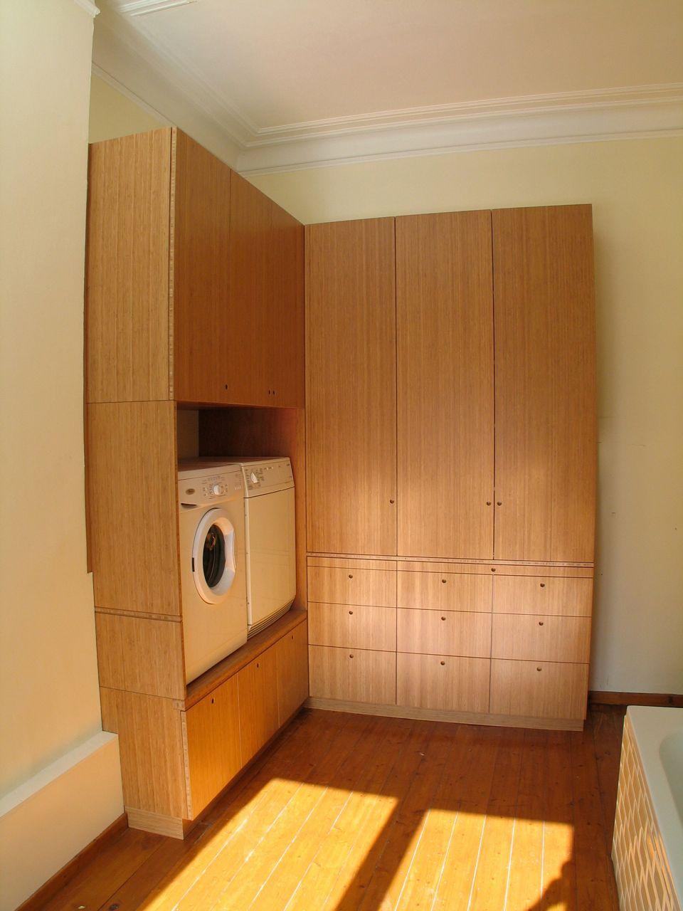 Een Kast Voor Wasmachine En Droogkast Frits Kuitenbrouwer